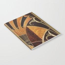 art deco wood Notebook