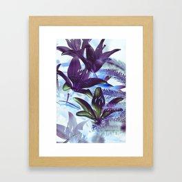 Moonlight Lillies Framed Art Print