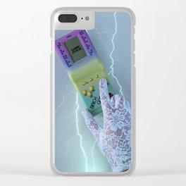 retro tetris Clear iPhone Case