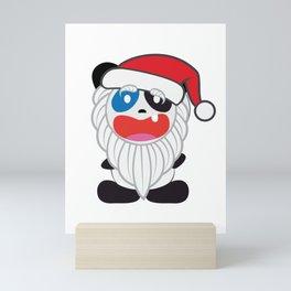 Panda Bear Santa Mini Art Print