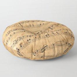 Music sheets, ancient Floor Pillow