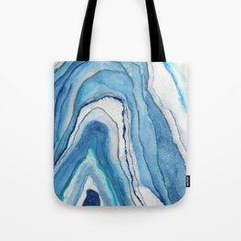 AGATE Inspired Watercolor Abstract 02 Tote Bag