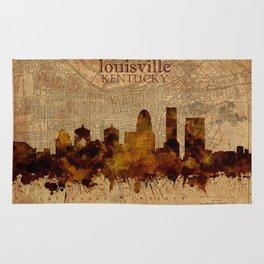 louisville skyline vintage 4 Rug