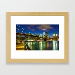 The Brooklyn Bridge Framed Art Print