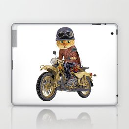 Cat riding motorcycle Laptop & iPad Skin