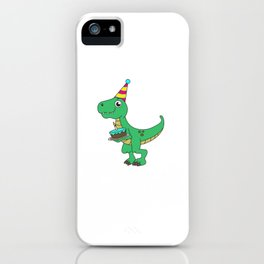 Best Gift for a 4yrs. old Dinosaur Lovers Tshirt Design iPhone Case