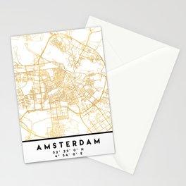 AMSTERDAM NETHERLANDS CITY STREET MAP ART Stationery Cards