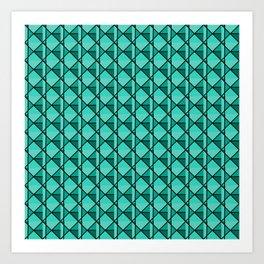 Green Geo Art Print