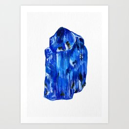 Tanzanite Birthstone Watercolor Illustration Art Print