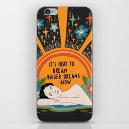 Dreaming bigger dreams iPhone Skin