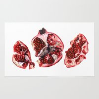 pomegranate Area & Throw Rugs featuring Pomegranate  by Sam Luotonen