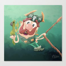 Barry the Buccaneer & his moody mate Cuckachoo Canvas Print