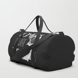 Home Is Where The Dog Is (Pug) Black Duffle Bag