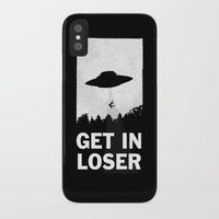minimalist iPhone & iPod Cases featuring Get In Loser by moop