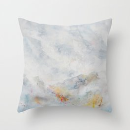 Frosted Mountains Throw Pillow