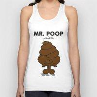 poop Tank Tops featuring Mr Poop by NicoWriter