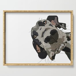 Great Dane dog in your face Serving Tray