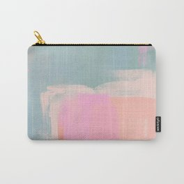 Bubblegum & Sage: abstract pink and green Carry-All Pouch