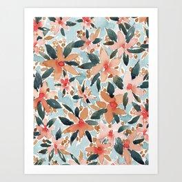 LAHAINA DANCE Tropical Floral Art Print