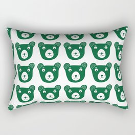 Dark green bear illustration Rectangular Pillow