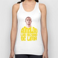 ronaldo Tank Tops featuring Ronaldo Name Yellow by Sport_Designs