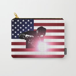 Welding: Welder & American Flag Carry-All Pouch