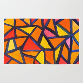 Striking Abstract Pattern Rug