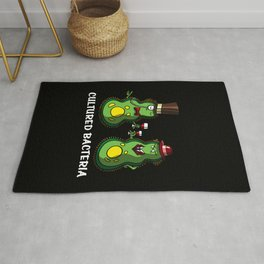 Biology Science Funny Cultured Bacteria Pun Rug