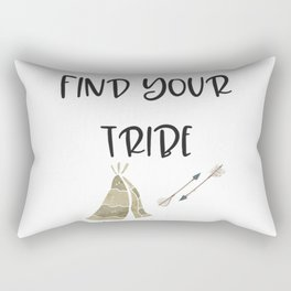 Find Your Tribe, Teepee & Arrows Rectangular Pillow