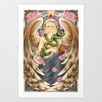 good omens Art Prints featuring Good Omens - Garden of Eden by sepherene