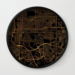 Colorado Springs map, Colorado Wall Clock