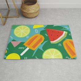 Watermelon, Lemon and Ice Lolly Rug