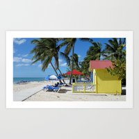 Caribbean Bungalow Art Print