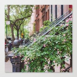 West Village Summer Blooms Canvas Print