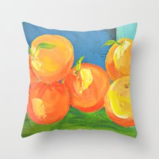 Peach Pie Throw Pillow