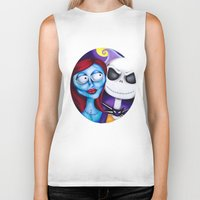 nightmare before christmas Biker Tanks featuring Nightmare Before Christmas by Janelle Jex