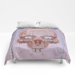 golden skull Comforters