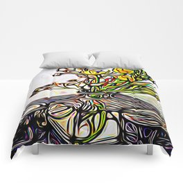 Shadow Flowers Comforters
