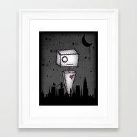 robot Framed Art Prints featuring Robot by Impale Design