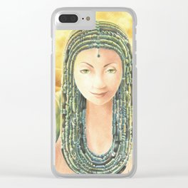 Portrait in the Desert Clear iPhone Case