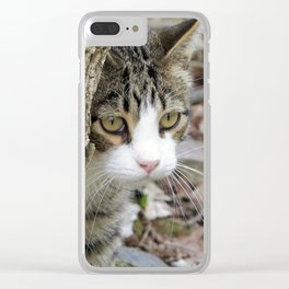 My Hunting Cat Clear iPhone Case