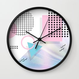 Memphis Pastels Wall Clock