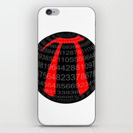 Pi Isolated Sphere iPhone Skin