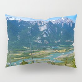 Overlooking the Athabasca River from the Morrow Peak Hike in Jasper National Park, Canada Pillow Sham