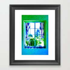 Cool Blue Window Framed Art Print