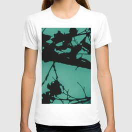 Teal Marbled Moon T-shirt