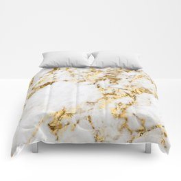 Luxe bright golden Comforters