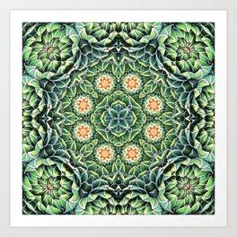 Succulent Splendor Art Print
