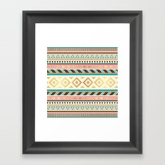 Pattern Tribal Framed Art Print