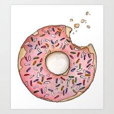 I love doughnuts Art Print